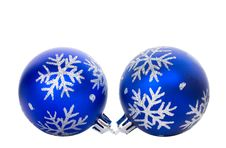 Free Blue Ball With Snowflakes Royalty Free Stock Photos - 17046008