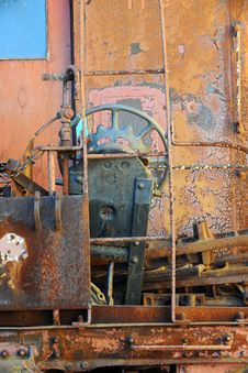 Free Abstract View Of Back Of Vintage Train Royalty Free Stock Photo - 17046065
