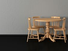 Free Modern Dining Room Stock Photography - 17046142