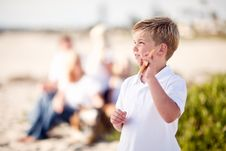 Free Cute Little Blonde Boy Showing Off His Starfish Stock Photo - 17046400