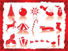 Free Christmas Icons Set Royalty Free Stock Photos - 17046478