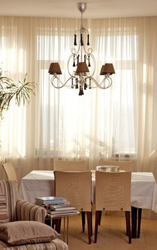 Dinning Room Interior Royalty Free Stock Images