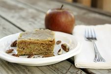 Free Apple Cake With Brown Sugar Glaze Royalty Free Stock Photography - 17046817