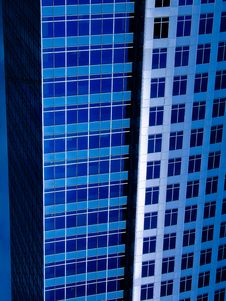 Free Modern Blue Buildings Stock Photography - 17047582
