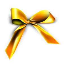Free Golden Ribbon For A Gift Stock Images - 17048724