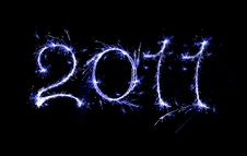 Free 2011 Blue Writing Royalty Free Stock Images - 17048749