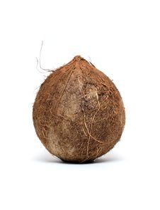 Free Coconut On White Royalty Free Stock Photo - 17048885