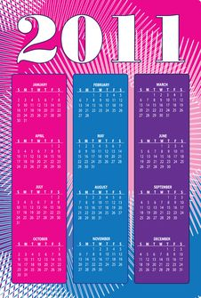 Free Calendar Organizer For 2011 Stock Image - 17049341