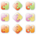 Free Button-like Puzzle Royalty Free Stock Photo - 17056335