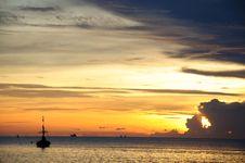 Pranburi Beach Sunraise Stock Image