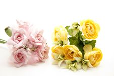 Free Pink And Yellow Bunch Of Roses Stock Image - 17050911