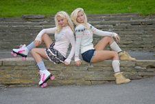 Free Pretty Two Pretty Girls Royalty Free Stock Image - 17051226