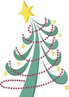 Free Stylized Christmas Tree Royalty Free Stock Photo - 17052755