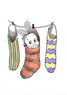 Free Christmas Bunny Royalty Free Stock Image - 17052836