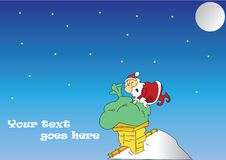 Free Santa On Roof Royalty Free Stock Image - 17053386