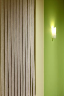 Free Wall Lamp On The Green Stock Photo - 17053800