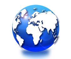 Free Blue Globe Stock Image - 17053851