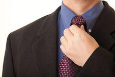 Free Businessman Adjusting His Tie Stock Photos - 17053893