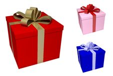 Colored Giftboxes Royalty Free Stock Photo