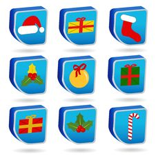 Free Christmas Icons Royalty Free Stock Images - 17054829