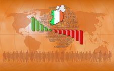 Ireland: Orange Background Stock Images