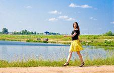 Free Woman At Lake Royalty Free Stock Images - 17055099