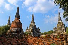 Free Ancient Pagoda-Ayutthaya Thailand Stock Photography - 17055942
