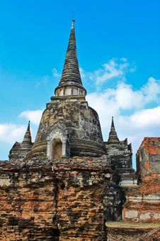 Free Ancient Pagoda-Ayutthaya Thailand Royalty Free Stock Photo - 17055985