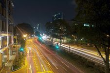 Free Night Traffic In Singapore Royalty Free Stock Photo - 17056115