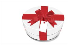 Free White Gift Box With Red Bow Royalty Free Stock Photos - 17056388