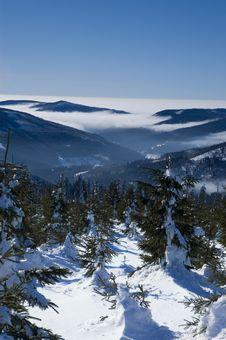 Free Winter Panorama Sunshine Royalty Free Stock Image - 17056966