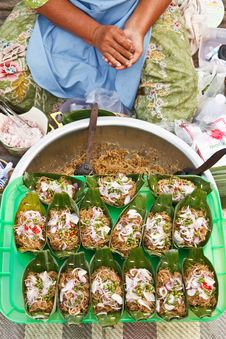 Thai Style Food In Floating Market Royalty Free Stock Photos