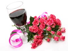 Free Wine And Roses Stock Image - 17057361