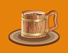 Free Woody Mug Of Beer Royalty Free Stock Photography - 17058187
