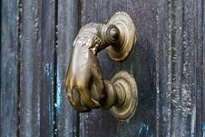 Free Door Hardware In The Form Of Fistful Royalty Free Stock Images - 17058309