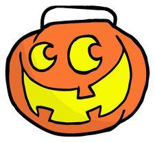 Happy Jack O Lantern Pumpkin Stock Image