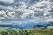 Free Clouds Over The Mountains Royalty Free Stock Photo - 17058925