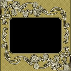 Free Vintage Photo Frame With Classy Patterns Stock Images - 17059494