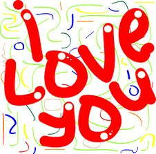 Free Greetings I Love You Stock Images - 17059844
