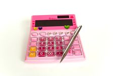 Free Colorful Calculator Royalty Free Stock Images - 17059969