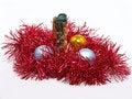 Free Candlestick And Christmas Balls. Stock Photo - 17065050