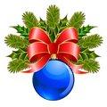 Free Christmas Ball With Bow Stock Photos - 17065223