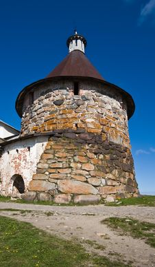 Free Tower Of Solovetsky Orthodox Monastery Stock Photography - 17060192