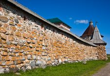Free Towers And Wall Of Solovetsky Orthodox Monastery Stock Photography - 17060372