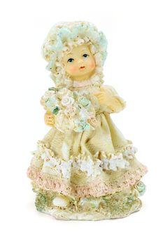 Free Porcelain Doll With Flowers Stock Photos - 17060903