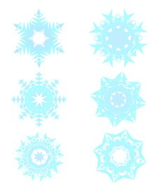 Free Realistic Snowflake Set Stock Photos - 17061173