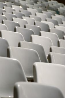Free Chairs At Stadium Royalty Free Stock Photos - 17061558