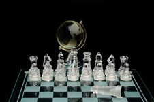 Free Crystal World Chess Globe Royalty Free Stock Photography - 17062057