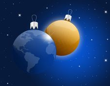 Free Christmas Baubles Royalty Free Stock Photography - 17062737