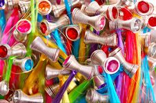 Multicolored Background From Hairpins Stock Images